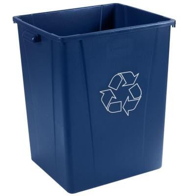 56 Gal. Blue Square Recycling Can