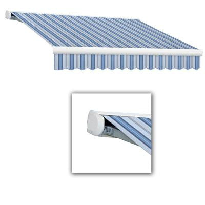16 ft. Key West Full-Cassette Manual Retractable Awning (120 in. Projection) in Blue Multi