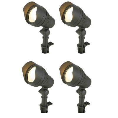 Low-Voltage LED Black Outdoor Flood Light (4-Pack)