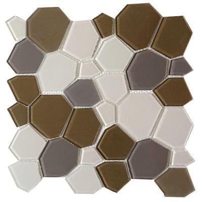 Upscale Designs 11-1/2 in. x 11-1/2 in. x 4 mm Glass Mesh-Mounted Mosaic Tile