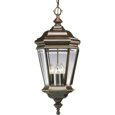 Crawford Collection 4-Light Outdoor Hanging Oil Rubbed Bronze Lantern