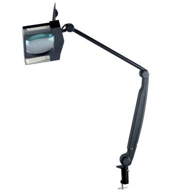 Designer Collection 2 Light 34 in. Black Desk Lamp with Metal Shade