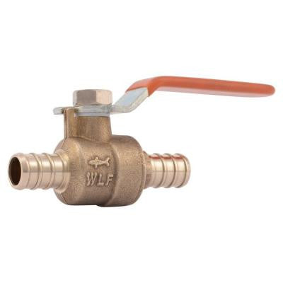 1/2 in. Brass PEX Barb x Barb Ball Valve