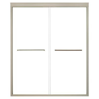 Fluence 3/8 in. Heavy Sliding Shower Door in Anodized Brushed Bronze