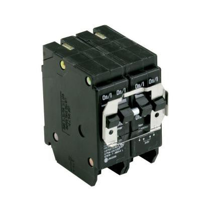 Type BR, BQ Quadplex circuit breaker, one 30Amp 2 pole and one 50Amp 2 pole