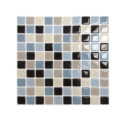 9.85 in. x 9.85 in. Mosaic Adhesive Decorative Wall Tile in Maya (6-Pack)