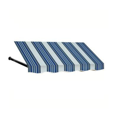 20 ft. Dallas Retro Window/Entry Awning (24 in. H x 48 in. D) in Navy/White Stripe