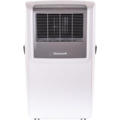 10,000 BTU Portable Air Conditioner with Front Grille and Remote Control - White/Grey