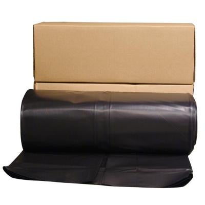 24 ft. x 100 ft. Black 6 mil. Plastic Sheeting