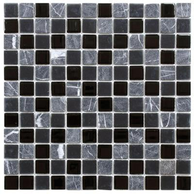 Spectrum Square Ligoria 11-1/2 in. x 11-1/2 in. x 4 mm Glass and Stone Mosaic Tile