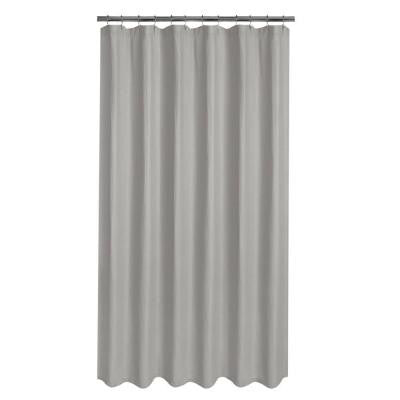 Luxury Spa Waffle 72 in. Fabric Shower Curtain in Grey