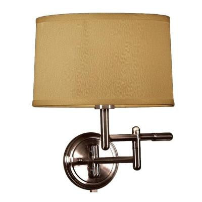 1-Light Oil-Rubbed Bronze Wall Pivoter Swing-Arm Lamp