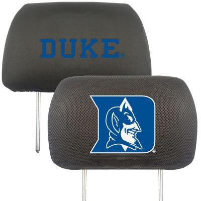 NCAA -Duke University Head Rest Cover (2-Pack)