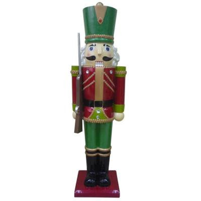 3 ft. Metallic Nutcracker Solider with Staff