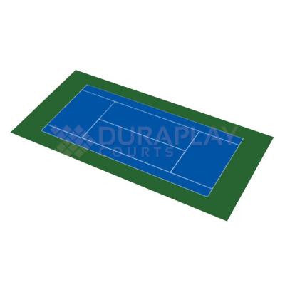 51 ft. x 99 ft. 11 in. Royal Blue and Olive Green Full Tennis Court Kit
