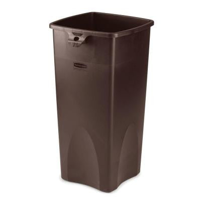 23 Gal. Brown Square Trash Can