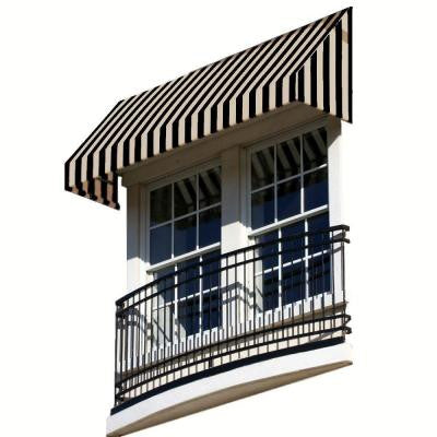 40 ft. New Yorker Window/Entry Awning (18 in. H x 36 in. D) in Red / White Stripe