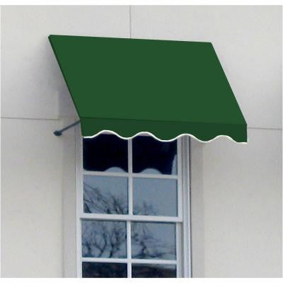 10 ft. Dallas Retro Window/Entry Awning (56 in. H x 36 in. D) in Forest