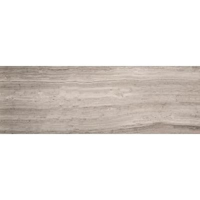 Metro Grey 8 in. x 36 in. Marble Floor and Wall Tile
