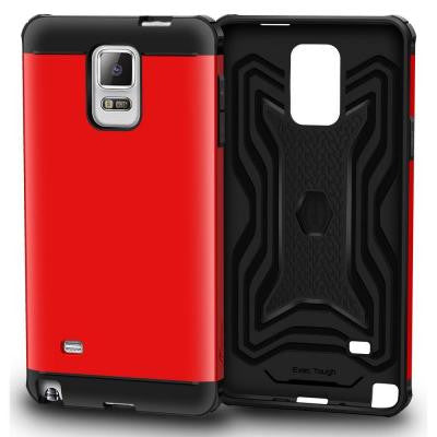 Slim Fit EXEC Armor Hybrid PC TPU Case for Galaxy Note 4 - Red