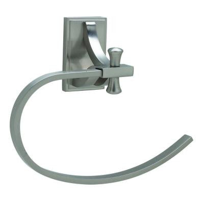 Ironwood Towel Ring in Satin Nickel