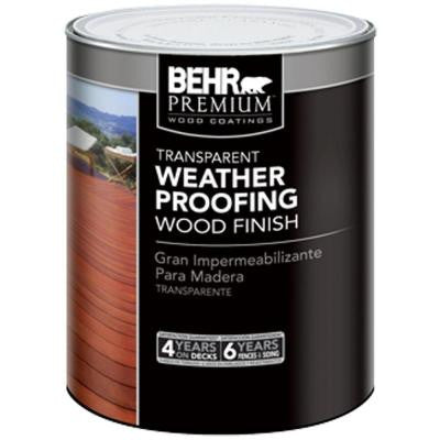 1-qt. Redwood Transparent Weatherproofing Wood Finish