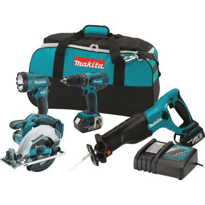 18-Volt LXT Lithium-Ion Cordless Combo Kit (4-Piece)