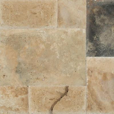 Imperium Pattern Honed-Unfilled-Chipped Travertine Floor and Wall Tile (5 kits / 80 sq. ft. / pallet)