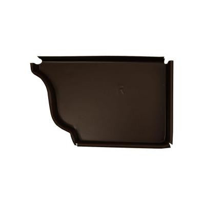 6 in. Musket Brown A Aluminum Right End Cap