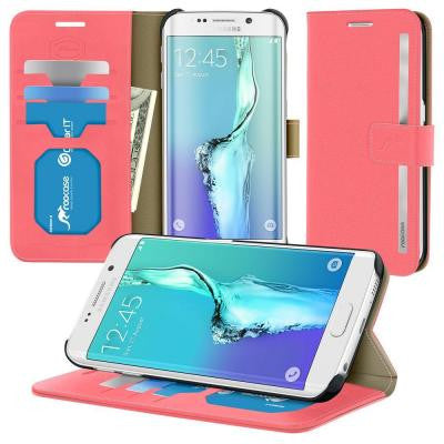 Prestige Wallet Case and Folio Flip Cover with Stand for Galaxy S6 Edge+