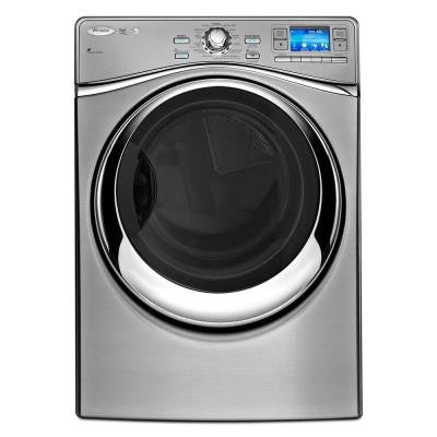 Smart 7.4 cu. ft. Electric Dryer with Steam in Silver