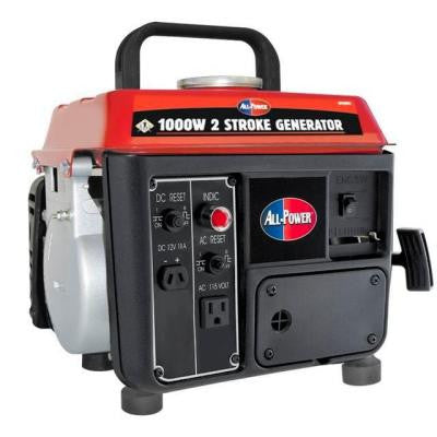 1,000-Watt 2 Stroke Powered Gas and Oil Mix Portable Generator