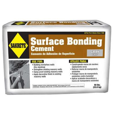 50 lb. Surface Bonding Cement in Gray