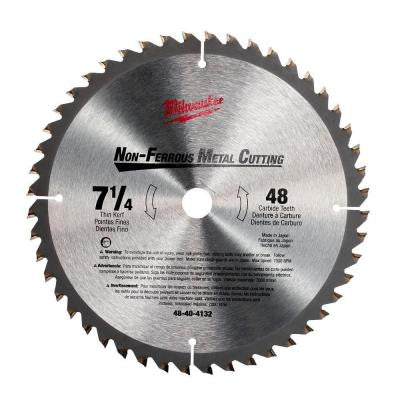 7-1/4 in x 48 Carbide Tooth Circular Saw Blade