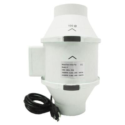 4 in. 105 CFM Ceiling or Wall Inline Exhaust Fan