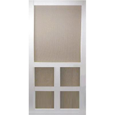 36 in. x 80 in. Victoria White Vinyl Screen Door