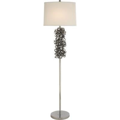 Rosalyn 58 in. Polished Chrome Floor Lamp
