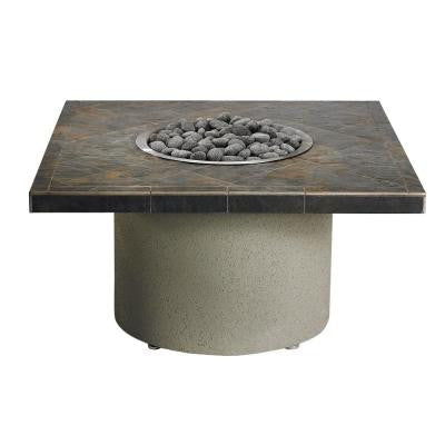 44 in. Square Ice N' Fire Pit in Falcon Gray