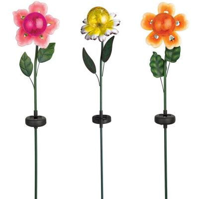Mixed Metal Flowers with Crackle Ball (3-Pack)