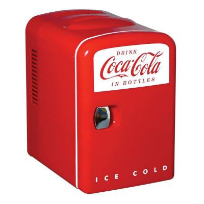 0.14 cu. ft. Retro Fridge in Red