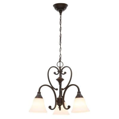 Somerset Collection 3-Light Bronze Chandelier