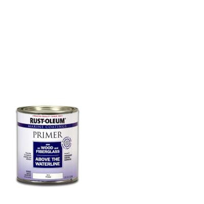 1-qt. White Flat Wood and Fiberglass Coatings Primer (Case of 4)