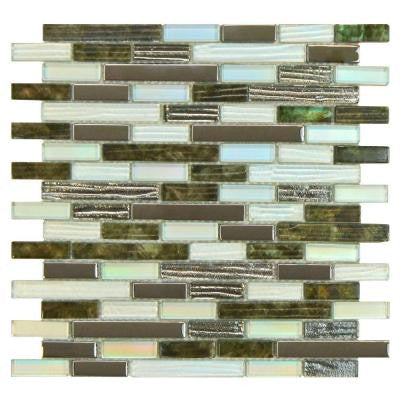 Radiance Lagoona 12 in. x 12 in. x 8 mm Glass Mosaic Wall Tile