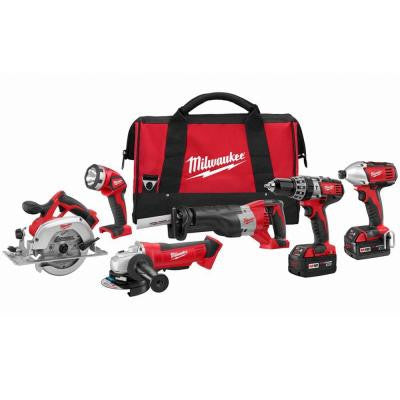 M18 18-Volt Lithium-Ion Cordless Combo Kit (6-Tool)