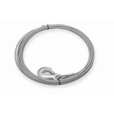 60 ft. by 7/32 in. Replacement Galvanized Steel Wire Rope with Hook for the S4000 Winch