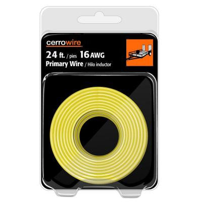 24 ft. 16-Gauge Stranded Primary Wire - Yellow