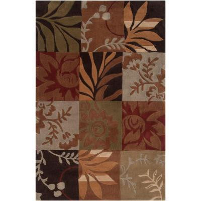 Equinox Rust and Green 9 ft. x 12 ft. Area Rug