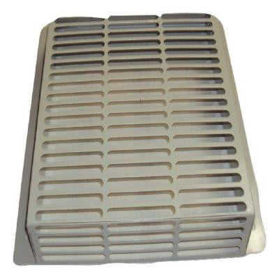 WallECover13.75 in. x 12.75 in. x 2.75 in. Powder Coated Galvanized Steel Pest Control Exterior Vent Cover in Taupe