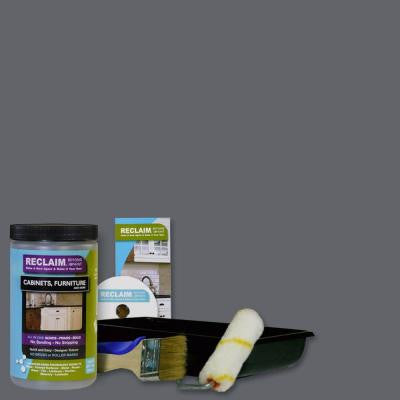 1-qt. Pewter All in One Multi Surface Interior/Exterior Cabinet, Furniture and More Refinishing Kit