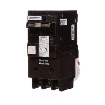 60 Amp Double-Pole Type QPF GFCI Circuit Breaker